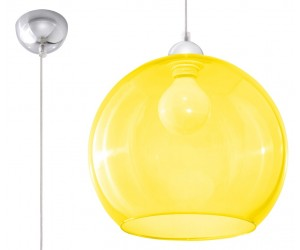 Lampa Wisząca BALL Żółta...