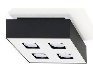 Plafon MONO 4 Czarny SOLLUX