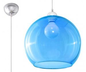 Lampa Wisząca BALL Błękitna...