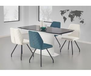 Stół ANDERSON biało-czarny HALMAR
