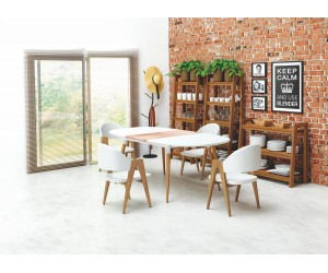 Stół CALIBER biały HALMAR