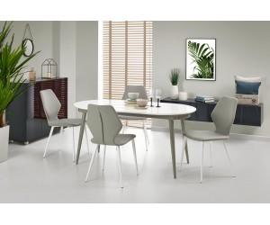 Stół biało-popielaty...