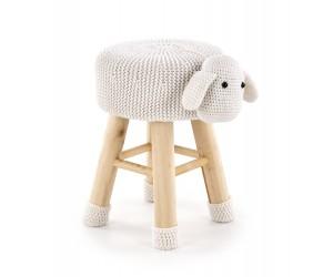 Pufa DOLLY 2 owieczka biała HALMAR