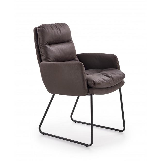 Fotel wypoczynkowy FASSI popielaty HALMAR