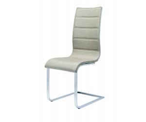K104 krzesło beżowy/biały tkanina (2p 4szt)