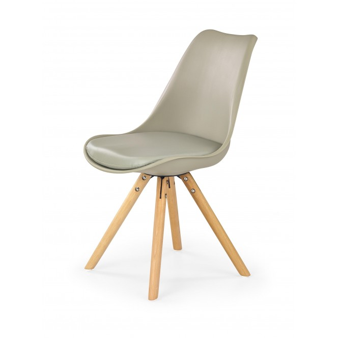 Krzesło drewniane K201 khaki HALMAR