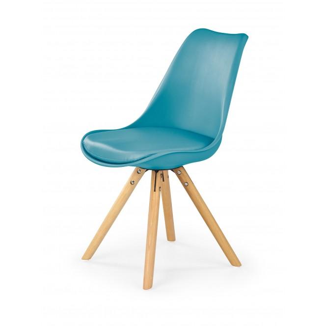 Krzesło drewniane K201 turkusowe HALMAR