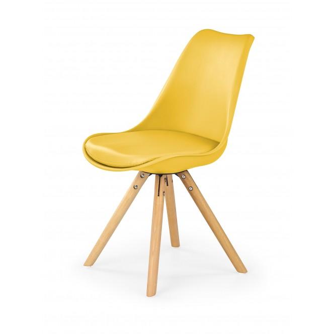 Krzesło drewniane K201 żółte HALMAR