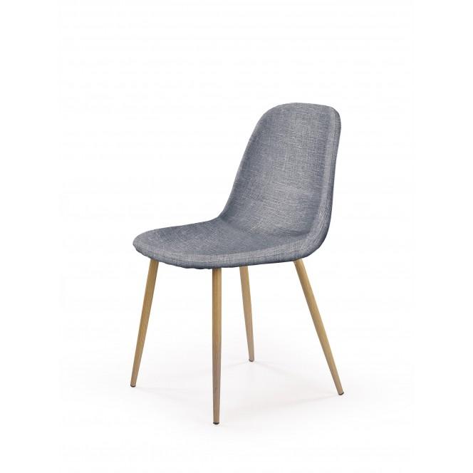 Krzesło metalowe K220 popielate HALMAR