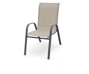 MOSLER krzesło ogrodowe popielate