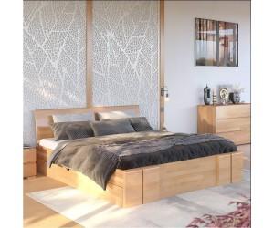 Łóżko drewniane bukowe z szufladami Skandica VESTRE Maxi & DR