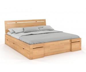 Łóżko bukowe Visby SALERNO High Drawers