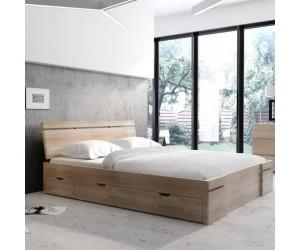 Łóżko drewniane bukowe z szufladami Skandica SPARTA Maxi & DR