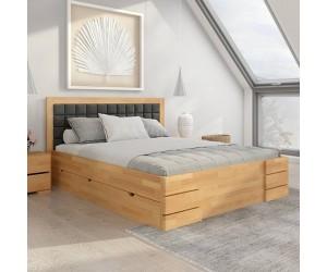 Łóżko bukowe Visby GOTLAND High Drawers