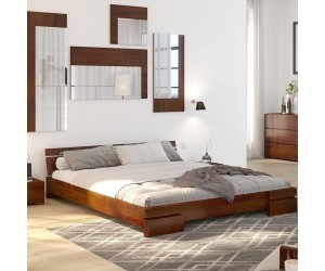 Łóżko drewniane sosnowe Skandica SPARTA Long