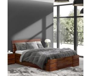 Łóżko sosnowe Visby SANDEMO High Drawers