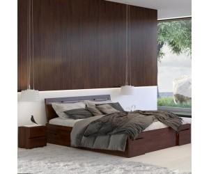 Łóżko sosnowe Visby SALERNO High Drawers