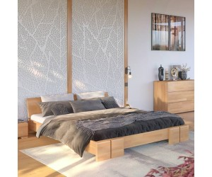 Łóżko drewniane bukowe Skandica VESTRE Niskie