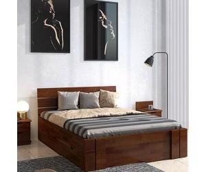 Łóżko sosnowe Visby ARHUS High Drawers