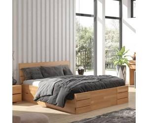 Łóżko bukowe Visby SANDEMO High Drawers