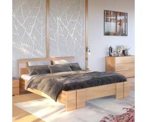 Łóżko drewniane bukowe ze skrzynią na pościel Skandica VESTRE Maxi & ST