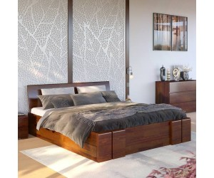 Łóżko drewniane sosnowe z szufladami Skandica VESTRE Maxi & DR