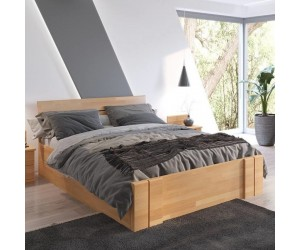 Łóżko bukowe Visby ARHUS High Drawers