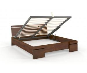 Łóżko drewniane sosnowe ze skrzynią na pościel Skandica SPARTA Maxi & ST