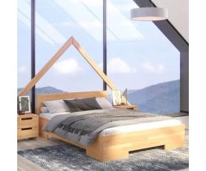 Łóżko drewniane bukowe ze skrzynią na pościel Skandica SPECTRUM Maxi & Long ST