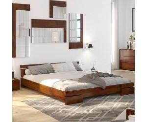 Łóżko drewniane sosnowe Skandica SPARTA Niskie