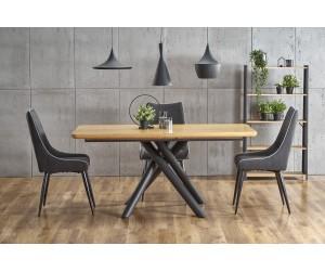 DERRICK stół rozkładany dąb naturalny / czarny
