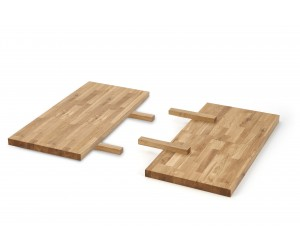 APEX & RADUS - przedłużka blatu 85x40 cm  drewno lite - dębowe kolor: dąb naturalny  (1p 1szt)