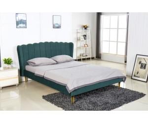 VALVERDE łóżko ciemny zielony / złoty (2p 1szt)