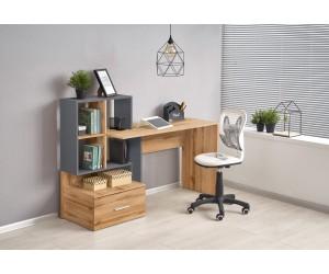 GROSSO biurko dąb wotan / antracyt (1p 1szt)