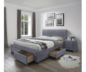 MODENA 3 łóżko z szufladami popiel velvet (6p 1szt)
