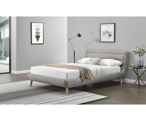 ELANDA 180 cm łóżko jasny popiel