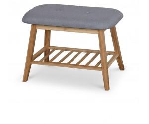 ST14 ławka / stojak na buty bambus - popielaty