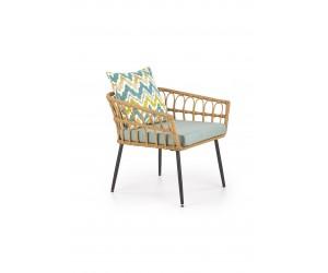 GARDENA 1S fotel podwójny czarny / naturalny / popielaty (1p 2szt)