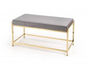 MOKKA ławka, stelaż - złoty, siedzisko - popielaty (1p 1szt)