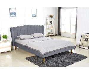 VALVERDE łóżko popielaty / złoty (2p 1szt)