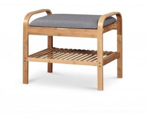 ST12 ławka / stojak na buty bambus - popielaty
