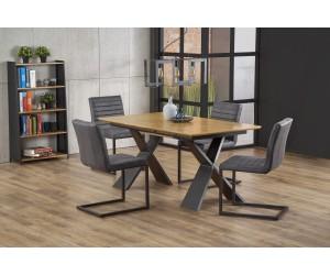CHANDLER stół rozkładany dąb naturalny / czarny