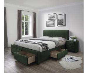 MODENA 3 łóżko z szufladami ciemny zielony velvet (6p 1szt)