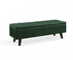 MASSIMO ławka ciemny zielony velvet
