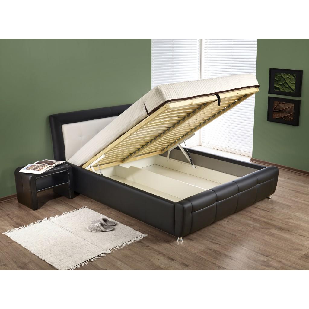 Samanta P łóżko Z Pojemnikiem Kolor Czarno Biały Tap Eco Skay 910017