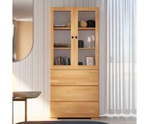 Drewniana bukowa witryna ze szklanymi drzwiami Visby SANDEMO 3S80