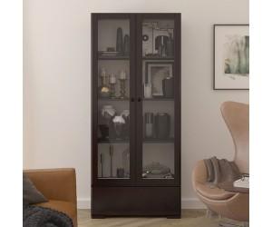 Drewniana sosnowa witryna ze szklanymi drzwiami Visby SANDEMO 1S80