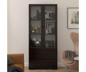Drewniana sosnowa witryna ze szklanymi drzwiami Visby SANDEMO 2S80