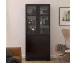 Drewniana sosnowa witryna ze szklanymi drzwiami Visby SANDEMO 3S80