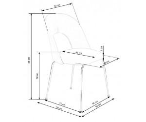 Krzesło metalowe K385...